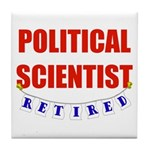 Retired Political Scientist Tile Coaster