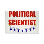 Retired Political Scientist Rectangle Magnet (10 p