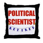 Retired Political Scientist Throw Pillow
