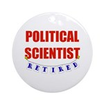 Retired Political Scientist Ornament (Round)