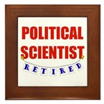 Retired Political Scientist Framed Tile
