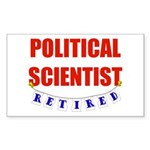 Retired Political Scientist Rectangle Sticker 50