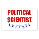 Retired Political Scientist Rectangle Sticker 50