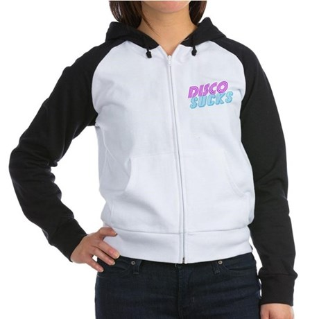 Disco Sucks Womens Raglan Hoodie