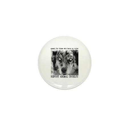 Report Animal Cruelty Dog Mini Button (100 pack)