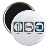"Eat Sleep Fences 2.25"" Magnet (100 pack)"
