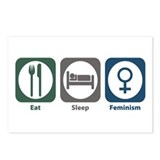 Eat Sleep Feminism Postcards (Package of 8)
