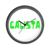 Calista Faded (Green) Wall Clock