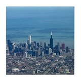 Aerial Chicago Tile Coaster