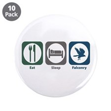 "Eat Sleep Falconry 3.5"" Button (10 pack)"