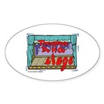 Thespians Do It On Stage Oval Sticker