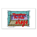 Thespians Do It On Stage Rectangle Sticker