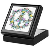 Dragonfly Peace Sign Keepsake Box