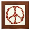 Ladybugs Peace Sign Framed Tile