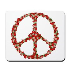 Ladybugs Peace Sign Mousepad