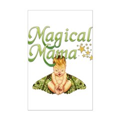 Magical Mama Fairy Baby Mini Poster Print