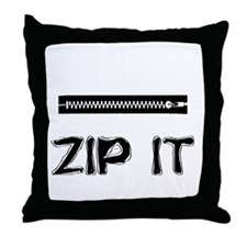 Zip It Throw Pillow