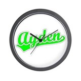 Retro Ayden (Green) Wall Clock