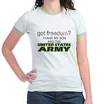 Got Freedom? Army (Son) Jr. Ringer T-Shirt