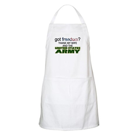 Got Freedom? Army (Wife) BBQ Apron