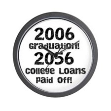 College Loans Wall Clock