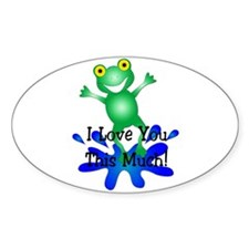 I Love You this Much! Oval Decal