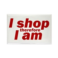 I shop therefore I am Rectangle Magnet (10 pack)