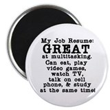 My Job Resume Magnet