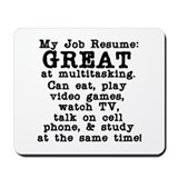 My Job Resume Mousepad
