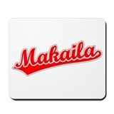 Retro Makaila (Red) Mousepad