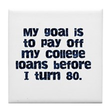 College Loans Tile Coaster