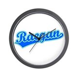 Retro Raegan (Blue) Wall Clock