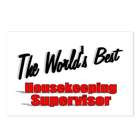"""The World's Best Housekeeping Supervisor"" Postcar"