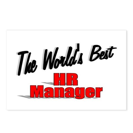 """The World's Best HR Manager"" Postcards (Package o"