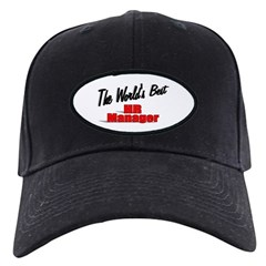 """The World's Best HR Manager"" Black Cap"