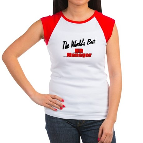 """The World's Best HR Manager"" Women's Cap Sleeve T"