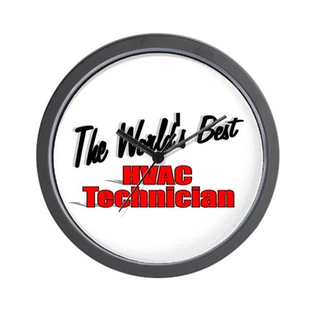 """The World's Best HVAC Technician"" Wall Clock"