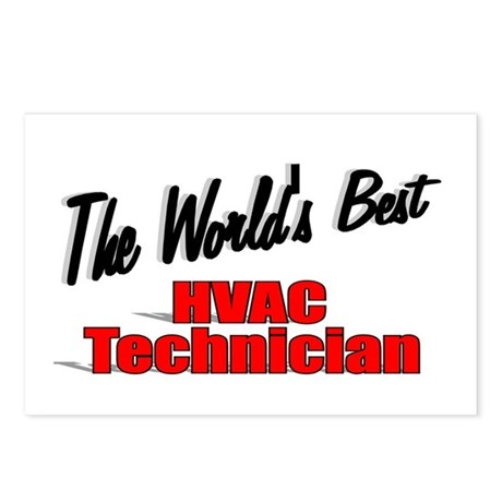 """The World's Best HVAC Technician"" Postcards (Pack"