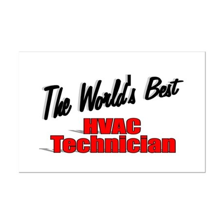 """The World's Best HVAC Technician"" Mini Poster Pri"
