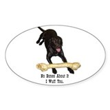 bones Oval Sticker (10 pk)