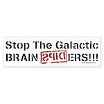 Galactic Brain Spider Bumper Sticker (10 pk)