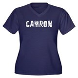 Camron Faded (Silver) Women's Plus Size V-Neck Dar