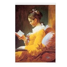 Young Girl Reading c. 1776 Postcards (Package of 8
