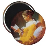 Young Girl Reading c. 1776 Magnet