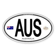 Australia Intl Oval Oval Sticker (10 pk)