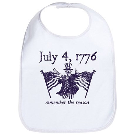 July 4th - monochrome Bib