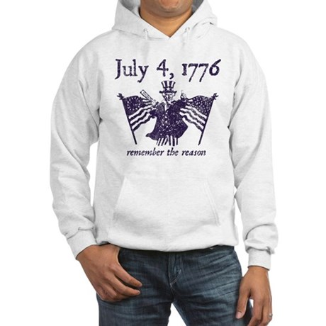 July 4th - monochrome Hooded Sweatshirt