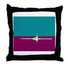 ROWER TEAL PURPLE Throw Pillow