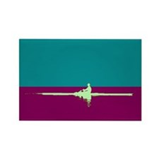 ROWER TEAL PURPLE Rectangle Magnet (10 pack)