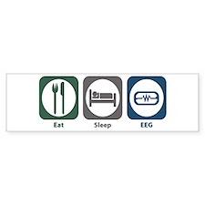 Eat Sleep EEG Bumper Sticker (10 pk)